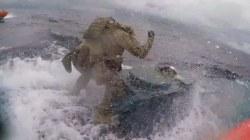 Watch: U.S. Coast Guard crew leaps onto drug smuggling vessel