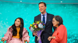 Awkwafina brings her grandma to TODAY to meet Willie Geist