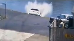 New Jersey driver leaving car wash plunges into river