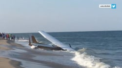 Small plane makes frightening emergency landing on Maryland beach