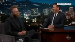 Seth Rogen dishes to Jimmy Kimmel on meeting Beyonce