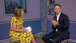 Seth Meyers, Savannah have spirited chat about adult beverages
