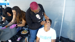 Meet the beautician bringing services to Los Angeles' homeless