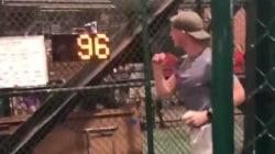 Baseball fan signs with Oakland A's after throwing 96 mph fastball