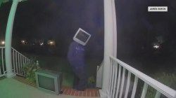 Person caught on doorbell cams wearing a TV, and more Highs and Lows
