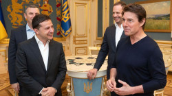 'You're good-looking – like in a movie,' Ukraine's president tells Tom Cruise