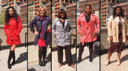 Watch 5 women try on the Amazon trench coat that is perfect for fall