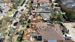 Dallas tornado: New images of devastation as storm heads east