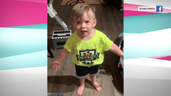 Watch a 2-year-old hilariously complain about his mom not saying goodbye