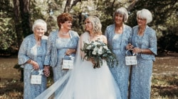 Bride asks her 4 grandmothers to be flower girls