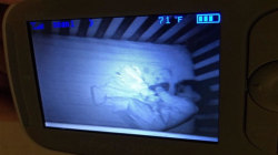 Mom sees 'ghost baby' in monitor with son