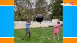 Gender reveal fails after balloon flies away