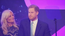 Prince Harry gets emotional talking about baby Archie during speech