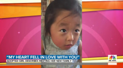 Adopted girl describes meeting her new family in precious video