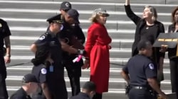Jane Fonda arrested while protesting climate change