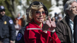 Jane Fonda and Sam Waterston arrested at climate change protest