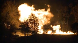 Overnight gas line rupture causes large fire in northern Ohio