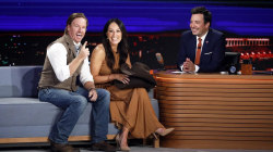Chip and Joanna Gaines talk with Jimmy Fallon in Texas