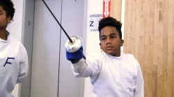 Former Olympian teaches fencing to disadvantaged kids in NYC