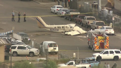 Small plane lands on a Phoenix street: See the video