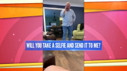This grandpa wants all his contacts to send him selfies for his iPhone