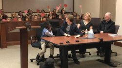 Kindergartner invites his entire class to his adoption hearing