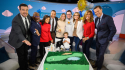 Dylan tears up as family surprises her at on-air baby shower