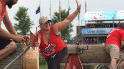 Meet professional lumberjill Tracie Henning