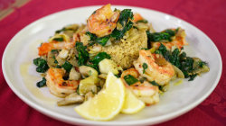 Quinoa and shrimp medley, kale salad: Camila McConaughey shows how