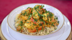 Make one-pot vegetarian chana masala and spiced fish stew