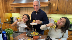 Make breakfast tacos with Geoffrey Zakarian and his daughters
