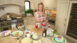 Sandra Lee makes easy Easter basket cakes and a pitcher of cosmopolitan cocktails
