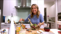 Giada De Laurentiis shows how to make red, white and blue salad