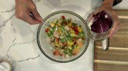 Make Joy Bauer's summery ceviche and citrus sorbet