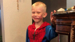 Boy, 6, saves younger sister from dog attack – and gets noticed by Captain America
