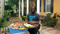 Make Rodney Scott's grilled barbecue spare ribs