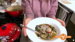 Gail Simmons makes white bean and kale soup