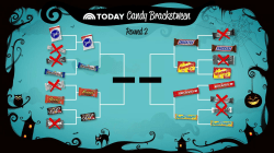 TODAY Candy Bracketween: Peppermint patties, Snickers advance