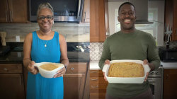 Chef and his mom cook together via Portal from Facebook