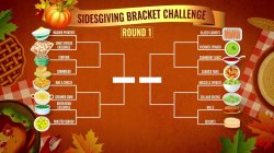 Vote for your Thankgiving faves in TODAY's Sidesgiving Bracket Challenge
