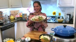 Maneet Chauhan makes garbanzo curry
