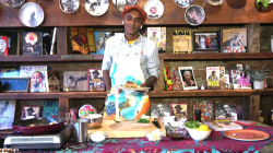 Marcus Samuelsson makes broken rice with tamarind-glazed salmon
