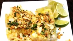 Valerie Bertinelli makes roasted cod with cashew-coconut topping