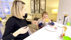 Dylan Dreyer and her son make pork roll, egg and cheese breakfast sandwiches