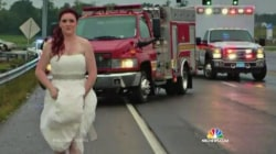 Photo of Paramedic Bride in Wedding Dress Goes Viral
