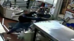 Caught On Camera: Clerk Fights off Robber