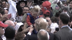 Donald Trump Autographs Baby