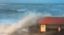 Huge Thundering Waves Pound UK Shores