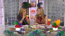 KLG, Hoda (unsuccessfully) search for baby Jesus in Mardi Gras King Cake