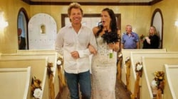 Bon Jovi walks superfan down the aisle